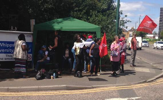 Serco staff at Leytonstone hospital 'regularly getting home late, tired and sore' launch fresh strikes over pay