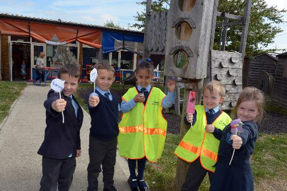 Pupils at Upminster primary school master rules of the road in day of fun