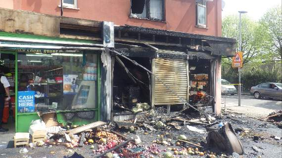 Fire caused by incense stick guts entire ground floor of Seven Kings shop