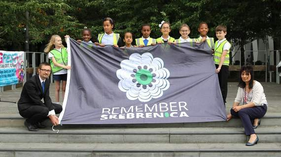 Srebrenica survivor reveals her story at memorial service in Barking town square