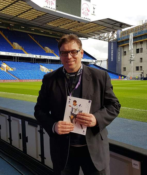 Yellow Sports Brian Jeeves is at White Hart Lane for Tottenham Hotspur's Premier League clash with Stoke City