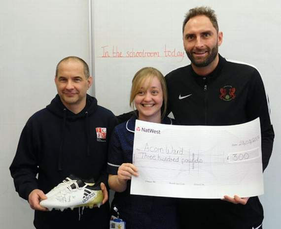 Leyton Orient skipper Nicky Hunt puts the boot in for Barts charity